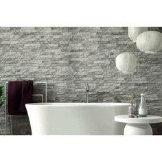 Ribera Grey Slate Effect Wall Tile - Wall Tiles from Tile Mountain Grey Bathroom Wall Tiles, Slate Wall Tiles, Black And White Tiles Bathroom, Slate Flooring, Wall And Floor Tiles, Grey Slate Tile, House Fence Design, Bathroom Interior Design, Bathroom Ideas