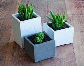 Combo Deal: Concrete Planter Coffee Table Set (One Tall, Two Small)
