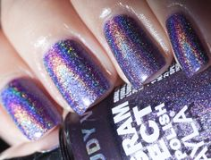 NEW Layla Hologram Effects Cloudy Violet | A Polish Addict