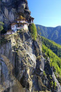 The Tiger's Nest monastery, Paro, Bhutan, on my bucket list! !!