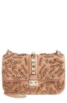 VALENTINO 'Rockstud Embellished - Medium Lock' Leather Shoulder Bag. #valentino #bags #shoulder bags #leather