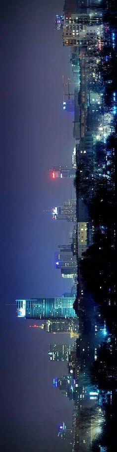 Warsaw by night Poland