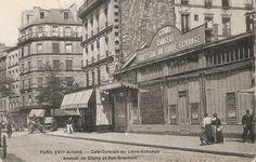 Avenue de Clichy. Old Paris, Vintage Paris, Cafe Concert, Saint Ouen, Paris Pictures, Past Life, Belle Epoque, Impressionist, Brewery