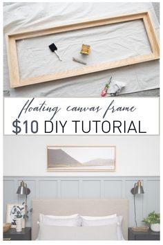 New Wood Frame Picture Canvases Diy Canvas 44 Ideas Diy Wood Projects, Home Projects, Home Crafts, Woodworking Projects, Diy Home Decor, Easy Woodworking Ideas, Diy Crafts, Floating Canvas Frame, Diy Canvas Frame