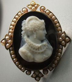 In the Swan's Shadow: Cameo: Mary, Queen of Scots ca. 1860