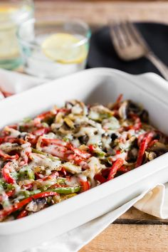 This lightly smothered chicken is drizzled with homemade honey mustard and then covered in onions peppers mushrooms and just a little cheese. Perfect for your healthy diet but still packed with delicious flavor! Fun Easy Recipes, Delicious Dinner Recipes, Easy Meals, Amazing Recipes, Homemade Honey Mustard, Smothered Chicken, Healthy Chicken Recipes, Shrimp Recipes, Turkey Recipes