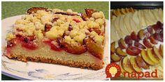 Tento koláč sa robil celý rok, vždy s ovocím, ktoré doma bola. Na jeseň naň môžete poukladať rôzne druhy ocovia - hrušky, jablká, slivky...  Potrebujeme:  2 hrnčeky polohrubej múky (1 hrnček 250 ml)    1 hrnček práškového cukru    pol hrnčeka Krispie Treats, Rice Krispies, Food And Drink, Ethnic Recipes, Sweet, Oven, Food Portions, Dessert Ideas, Food Food