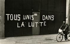 René Basset - Mai 1968, Villeurbanne, Rhône, France. Uni, Letter Board, France, Thoughts, Lettering, Words, Mayo, Wrestling, Quotation