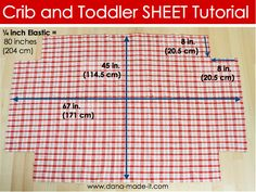 """Crib and Toddler Bed Sheets    Crib bedding details from Pottery Barn:  Toddler Quilt  36 x 50""""  Small Sham  12 x 16""""  Fitted Crib Sheet  26 x 53""""; fits mattresses up to 8"""" deep  Crib Skirt  28 x 52""""; 16"""" drop  Bumper  9.75 x 160"""" toddler bedding tutorial, crib sheet, crib quilt tutorial, crib bumper tutorial, diy crib, crib bed skirt tutorial, cribtoddl sheet, baby bedding tutorial, bed sheets"""