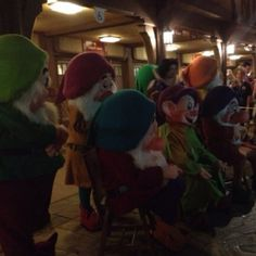 All seven Dwarfs on One more Disney Day 2-29-12