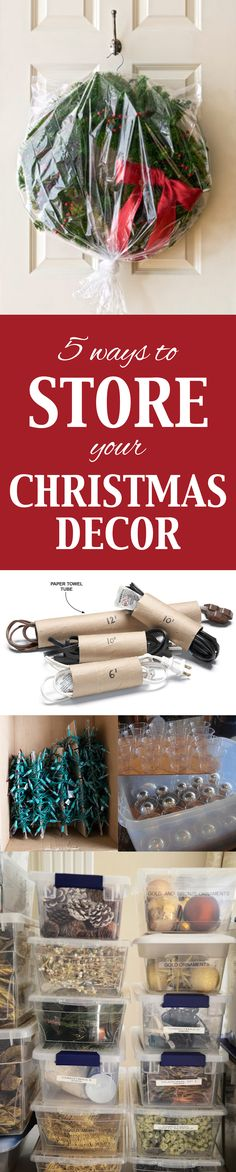 5 Ways to Store Your Christmas Decor ~ Don't spend tons of money buying fancy storage solutions when you can make your own with common household items!