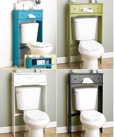 Bathroom Space Saver Storage Over the Toilet Cabinet Shelve Organizer Wall Mount - Over the Toilet Storage - Ideas of Over the Toilet Storage Bathroom Shelves, Bathroom Storage, Bathroom Closet, Bathroom Bath, Over The Toilet Cabinet, Space Saving Bathroom, Tidy Room, Bamboo Bathroom, Cabinet Shelving
