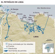 Petróleo y milicias musulmanas en Libia postKadafi.