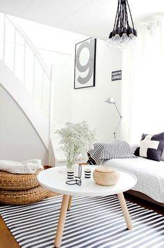 Formas geométricas en textiles para decorar tu hogar #hogar #decoración #nórdico #escandinavo  www.hogardiez.com.es