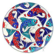 Iznik Design Ceramic Plate - Classical Iznik