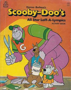 Laff-A-Lympics Coloring Book, 1978 with Grape Ape, Scooby-Doo & Mumbly #HannaBarbera #1970s #70s