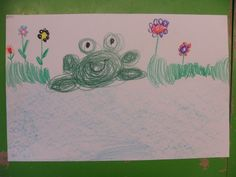 van cirkels een kikker tekenen (idee van juf joyce)