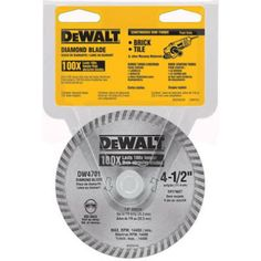 Dewalt Industrial Dry or Wet Cutting Continuous Rim Diamond Saw Blade with Arbor, Multi Worm Drive, Home Improvement Contractors, Best Appliances, Home Tools, The Day Will Come, Tool Box, Diamond Cuts, Concrete Stone, Brick Block