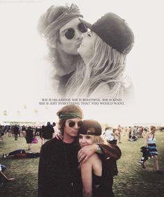 Tyler Blackburn on Ashley Benson. They played lovers on Pretty Little Liars Hannah and Caleb. Gahhh, soooo CUTE!