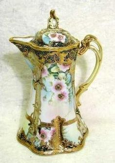 Image detail for -Nippon Porcelain; Chocolate Pot, Floral Motif, IC Nippon Mark, 7 inch ...