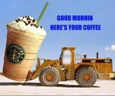 Coffee Humor: Here's Your Morning Coffee Coffee Talk, I Love Coffee, Coffee Break, My Coffee, Morning Coffee, Coffee Cups, Starbucks Coffee, Coffee Drinks, Coffee Shop