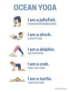 Ocean Yoga Poster