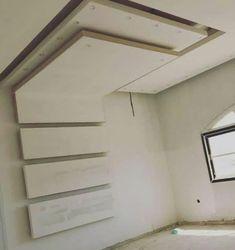 #Zimmerdecke paneele Plaster Ceiling Design, Gypsum Ceiling Design, House Ceiling Design, Ceiling Design Living Room, Bedroom Door Design, False Ceiling Living Room, Bedroom False Ceiling Design, Luxury Bedroom Design, Tv Wall Design