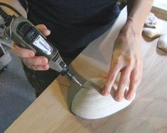How to drill holes in shells without them breaking.