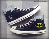 Captain America Custom Converse / Painted Shoes by FeslegenDesign