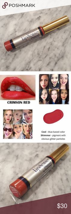 Brand New! LE LipSense! LipSense?is the premier product of SeneGence and is unlike any conventional lipstick, stain or color. As the original long-lasting lip color, it is waterproof, does not kiss-off, smear-off, rub-off or budge-off! This listing is for one tube of the limited edition and sold out Crimson Red Diamond LipSense color. To use LipSense you will need Glossy Gloss - I have a separate listing for this. SeneGence Makeup Lipstick