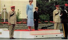 July 29, 1993: Princess Diana and Prince Harry Hohne Barracks in Winsen, West Germany.