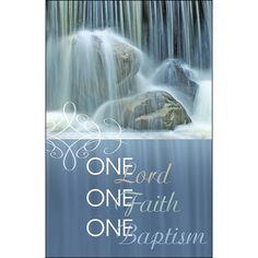 Bulletin-One-Baptism (Pkg-50)