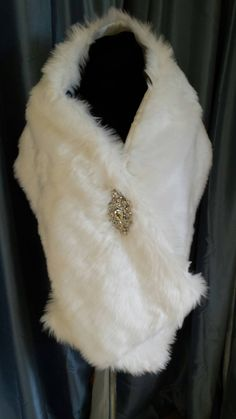 Marfil piel sintética abrigo abrigo de novia por GinaNachreiner
