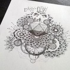 mandala tattoo dotwork - Google Search