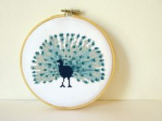 Counted Cross stitch Pattern PDF. Instant download. Peacock. Includes easy beginner instructions. by CharlotteAlexander on Etsy