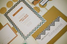 Wedding Rehearsal Dinner Invitation - Ombre Chevron - Teal and Gold - 5x7 Printable Invitation on Etsy, $15.00