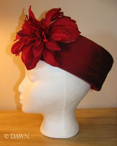 Hat_RedSilkPillbox2