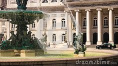 The monumental fountains of Rossio at Pedro IV Square, Lisbon - Portugal.  #architectural #beauty #daphne #decorative #figures #foundry #fountains #french #iron #ironwork #lisbon #mermaid #monument #monumental #mythological #nymph #ornamental #portugal #rossio #seaamaid #siren #spirt #square #statues #steel #water #wrought #fountain #stockphoto #dreamstime #royaltyfree