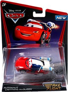 Amazon.com: Disney / Pixar CARS TOON 155 Die Cast Car Take Flight Autonaut Lightning McQueen: Toys & Games