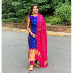 Silk Kurti Designs, Simple Kurta Designs, Half Saree Designs, Sari Blouse Designs, Kurta Designs Women, Kurti Designs Party Wear, Lehenga Designs, Salwar Suit Neck Designs, Indian Gowns Dresses