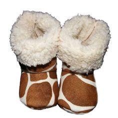 Giraffe Print Fur Baby Boots-Giraffe Print Fur Baby Boots,handmade faux suede infant boot,newborn baby shoes,baby shower gift