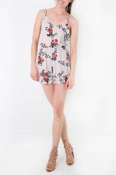 694222edcd8 Audrey 3+1 Open Back Floral Romper. Apricot LaneRuffle TrimRufflesFloral ...