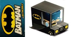 Here's a fun craft for #BatmanDay! A print and glue together Batman and Batmobile.