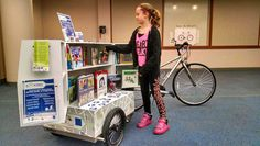 Rochester Public Library's pedal-powered mobile library initiative has earned the library a $5,000 grant and an award from the Humphrey School of Public Affairs at the University of Minnesota.