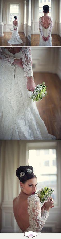 bottom pic, beautiful wedding day look