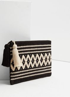 Textured cotton cosmetic bag - Bags for Women | MANGO USA