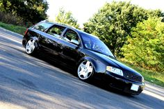 Audi A6 C5 bagged with #Accuair on Mercedes CL600 18x8.5