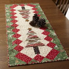 Projects Designed and Made by Chloe Anderson and Colleen Reale. Machine Quilted by Linda Leathersich.22' x 54'Celebrate the holidays in style! Make a festive runner and matching placemats to decorate your dinner table.
