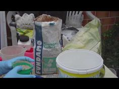 Beton giessen - DIY - Knetbeton - Das Rezept! Variante 2 - mit Fliesenkleber - YouTube