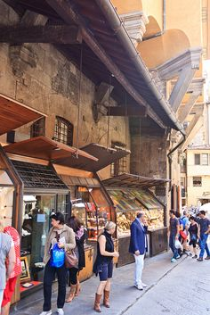 "On The Ponte Vecchio, Florence, Italy.  Guido had a silver shop here.  He was my ""guide"" while in Florence."